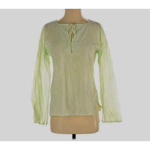 Roberta Freymann Embroidery Cotton Tunic Blouse S